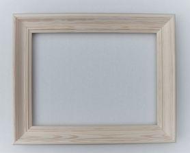 Rama drewniana frezowana surowa 60cm x 90cm
