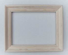 Rama drewniana frezowana surowa 40cm x 50cm