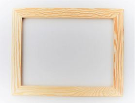 Rama drewniana prosta surowa 50cm x 60cm