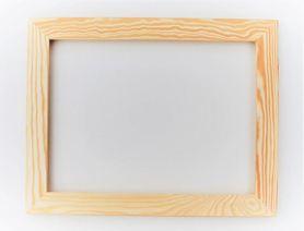 Rama drewniana prosta surowa 90cm x 60cm