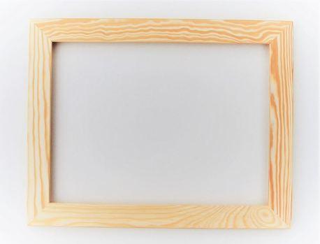 Rama drewniana prosta surowa 30cm x 40cm (1)